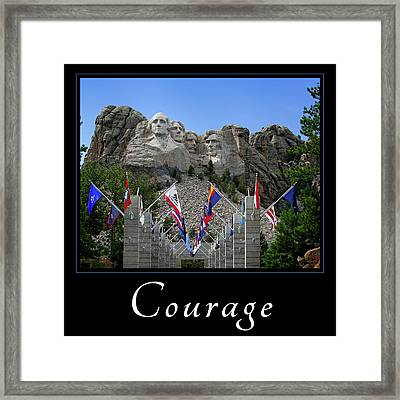 Framed Print featuring the photograph Courage by Mary Jo Allen