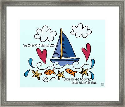 Courage To Sail Framed Print by Jennifer Heath Henry