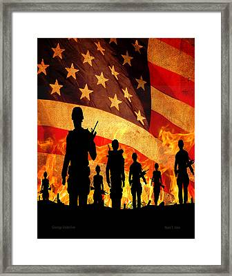 Courage Under Fire Framed Print