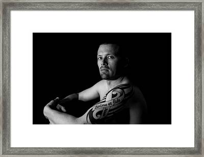 Courageously And Faithfully Framed Print by MAriO VAllejO