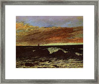Courbet Gustave La Vague Framed Print