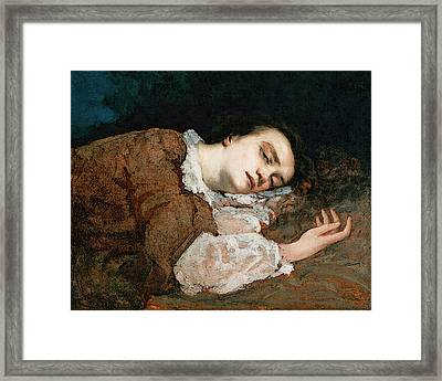 Courbet Gustave Study For Les Demoiselles Des Bords De La Seine  Ete  Framed Print