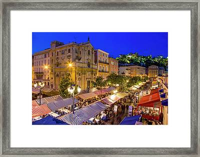 Cours Saleya In Nice Framed Print