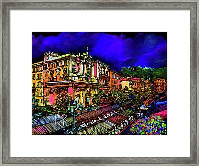 Cours Saleya, Nice, France Framed Print