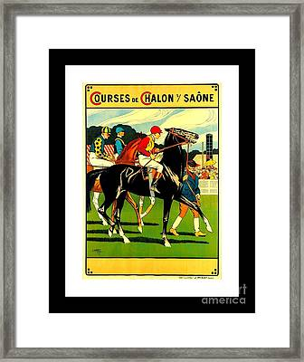 Courses De Chalon French Horse Racing 1911 II Leon Gambey Framed Print