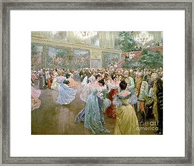 Court Ball At The Hofburg Framed Print by Wilhelm Gause