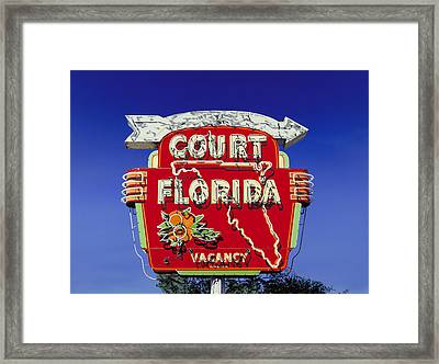 Court Florida Framed Print by Randy Ford