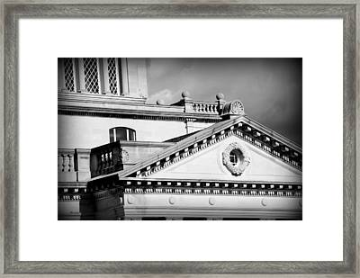 Court In Session Framed Print by Mary Beth Landis