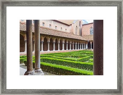 Court Insde Eglise Des Jacobins Or Church Of The Jacobins Framed Print