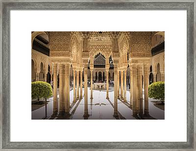 Court Of The Lions - Alhambra Palace - Granada Spain Framed Print