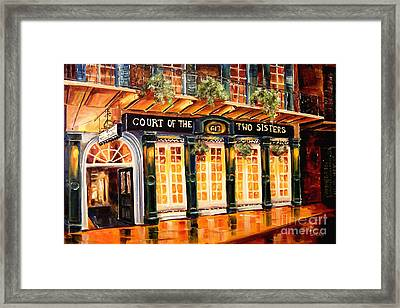 Court Of The Two Sisters Framed Print by Diane Millsap