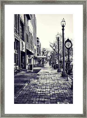 Court Street Clock Florence Alabama Framed Print