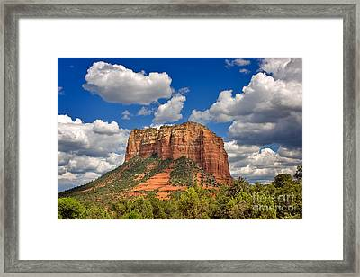 Courthouse Butte Framed Print by Louise Heusinkveld