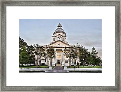 Courthouse In Moultrie Framed Print