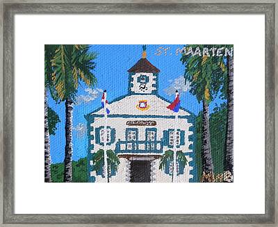 Courthouse In Philipsburg Framed Print