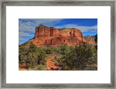 Courthouse In Session Framed Print by Donna Kennedy
