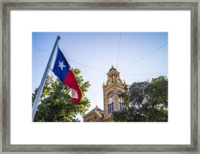 Courthouse, Llano, Texas Framed Print by Craig David Morrison