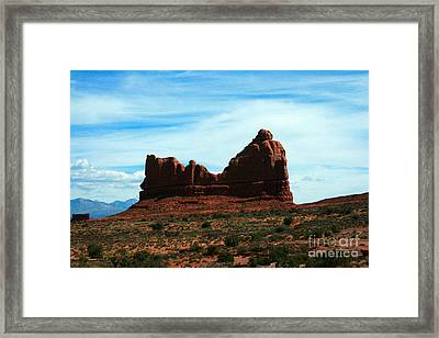 Courthouse Rock In Arches National Park Framed Print