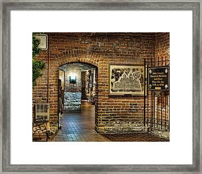 Courthouse Shops Framed Print
