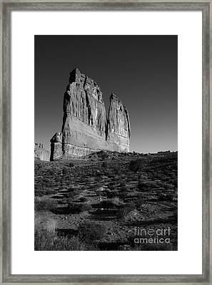 Courthouse Tower Framed Print by Timothy Johnson