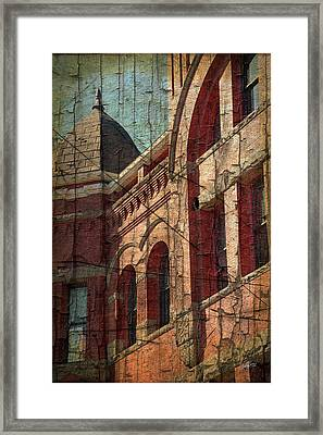 Old Courthouse Turret Framed Print by Cheryl Rose