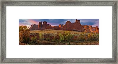 Courthouse Wash - Arches Np Framed Print by Thomas Schoeller