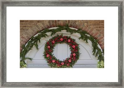 Courthouse Wreath Framed Print