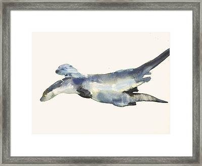 Courting Otters  Framed Print