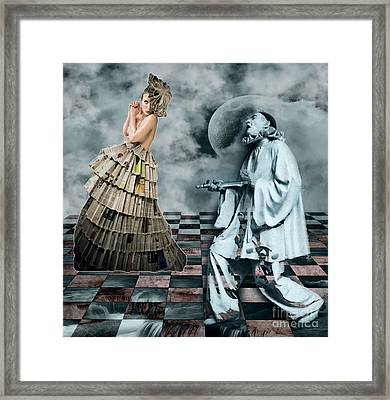 Courtly Jesters Framed Print