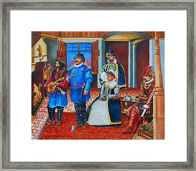 Courtly Song Framed Print by Gerald Carpenter
