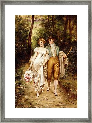 Courtship Framed Print by Joseph Frederic Charles Soulacroix