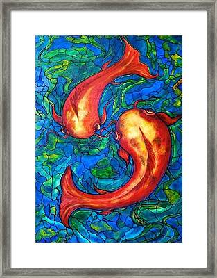 Framed Print featuring the painting Courtship  by Rae Chichilnitsky
