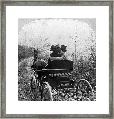 Courtship/carriage Ride Framed Print by Granger