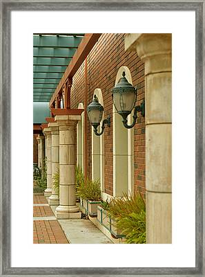 Courtyard Breeze Way Framed Print by Pamela Patch