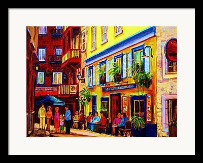 Montreal Cafes Framed Prints