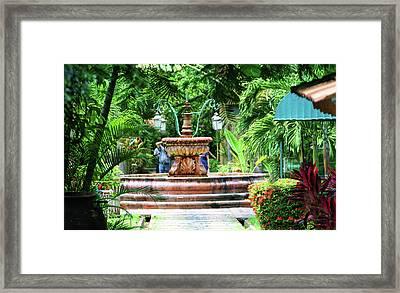 Courtyard Fountain  Framed Print