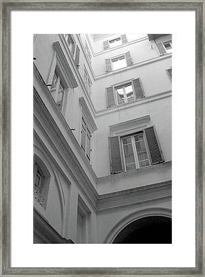 Courtyard In Rome Framed Print