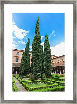 Courtyard Insde Eglise Des Jacobins Or Church Of The Jacobins Framed Print