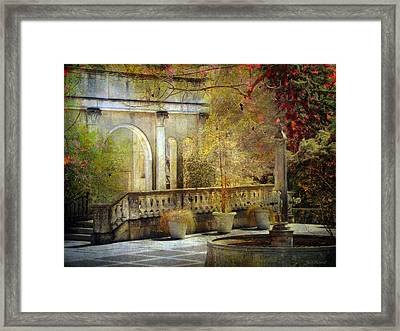 Framed Print featuring the photograph Courtyard by John Rivera