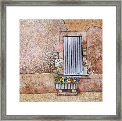 Courtyard Framed Print by Pamela Iris Harden