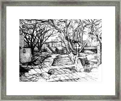 Courtyard Framed Print by Randall Easterling