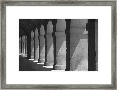 Courtyard Spain Framed Print by Douglas Pike