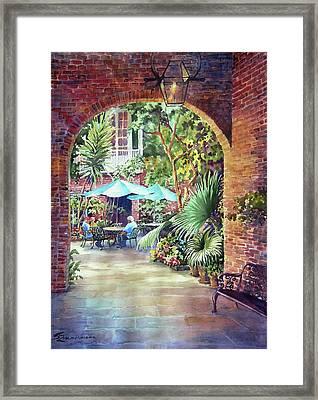 Courtyard Framed Print by Sue Zimmermann