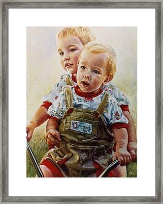 Cousins Framed Print by Jean Hildebrant