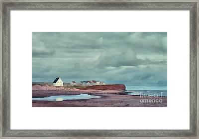 Cousins Shore Prince Edward Island Landscape Framed Print by Edward Fielding