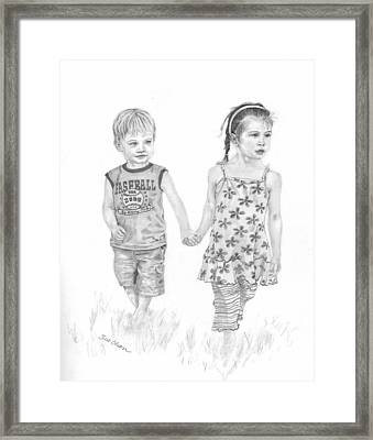 Cousins Framed Print by Sue Olson