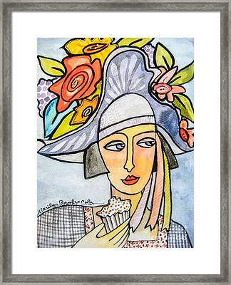 Couture Chapeau Framed Print