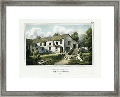 Framed Print featuring the drawing Couvent D Umata Convent In Umatic by Sainson