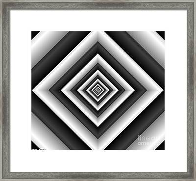 Covariance  6 Modern Geometric Black White Framed Print