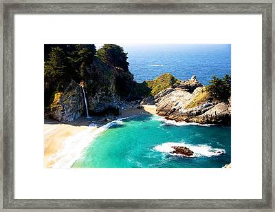 Cove And Mcway Falls Framed Print